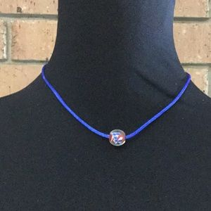 Choker with Floating Glass Bead